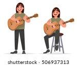 music performance. guitarist...