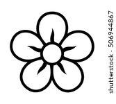 Five Petal Flower Blossom Or...