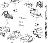 background with birds.... | Shutterstock . vector #506948827