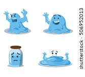 slime monster cartoon set... | Shutterstock .eps vector #506952013