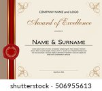 award of excellence with wax... | Shutterstock .eps vector #506955613