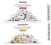 science banner vector concepts... | Shutterstock .eps vector #506959957