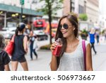 urban city lifestyle hipster... | Shutterstock . vector #506973667