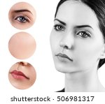 beautiful girl with clear skin | Shutterstock . vector #506981317