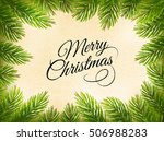 Christmas Retro Background Wit...