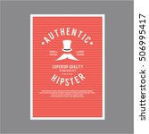 vintage hipster layout tamplate ... | Shutterstock .eps vector #506995417
