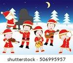christmas concert. | Shutterstock .eps vector #506995957