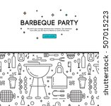 barbeque party illustration | Shutterstock .eps vector #507015223