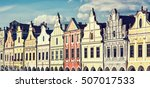main square in telc with the... | Shutterstock . vector #507017533