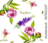 Pink  Violet Peony Watercolor ...