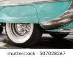 wheel tyres of blue and white... | Shutterstock . vector #507028267