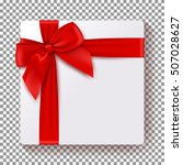 realistic gift box isolated on... | Shutterstock .eps vector #507028627
