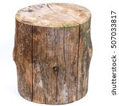 wood log isolated on a white... | Shutterstock . vector #507033817