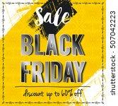 black friday sale banner on... | Shutterstock .eps vector #507042223