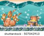 cartoon vector underwater...   Shutterstock .eps vector #507042913