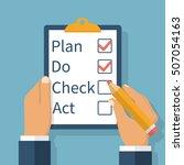 plan do check act. businessman... | Shutterstock .eps vector #507054163