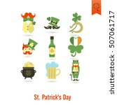 saint patricks day isolated... | Shutterstock . vector #507061717