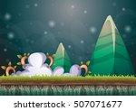 cartoon vector sky background... | Shutterstock .eps vector #507071677