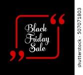abstract vector black friday... | Shutterstock .eps vector #507071803