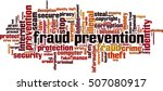fraud prevention word cloud... | Shutterstock .eps vector #507080917