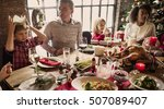family together christmas... | Shutterstock . vector #507089407