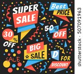 creative colorful vector badges ... | Shutterstock .eps vector #507091963