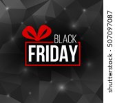 abstract vector black friday... | Shutterstock .eps vector #507097087