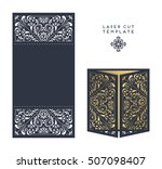 vector wedding card laser cut... | Shutterstock .eps vector #507098407