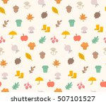 autumn seamless pattern. this... | Shutterstock .eps vector #507101527