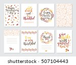 vector thanksgiving day... | Shutterstock .eps vector #507104443