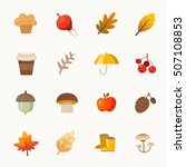 set of colorful warm autumn... | Shutterstock .eps vector #507108853