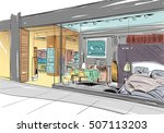 fashion store hand drawn sketch ... | Shutterstock .eps vector #507113203