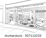 fashion store hand drawn sketch ...   Shutterstock .eps vector #507113233