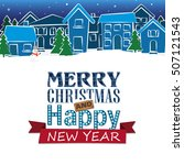 holiday christmas card  holiday ... | Shutterstock .eps vector #507121543