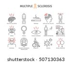 multiple sclerosis. symptoms ... | Shutterstock .eps vector #507130363