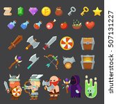 game icons medieval viking....