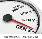 generation x y z speedometer... | Shutterstock . vector #507131953