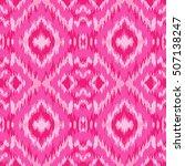 ethnic pink seamless pattern.... | Shutterstock .eps vector #507138247