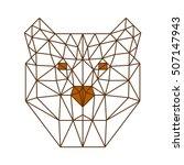 polygon triangle bear head line ... | Shutterstock .eps vector #507147943