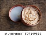 expired brown lotion in plastic ... | Shutterstock . vector #507149593