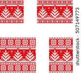 christmas postcards set with... | Shutterstock .eps vector #507149773