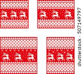 christmas postcards set with... | Shutterstock .eps vector #507149797