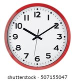 wall clock isolated on white... | Shutterstock . vector #507155047