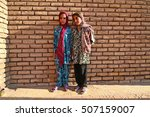 Small photo of Young muslim afghan refugee girls, 31 september 2014, Kerman, Iran