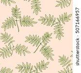 vector seamless floral pattern... | Shutterstock .eps vector #507166957