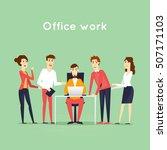 business characters. teamwork.... | Shutterstock .eps vector #507171103