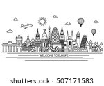 europe skyline detailed... | Shutterstock .eps vector #507171583