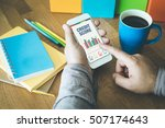 business charts and graphs on... | Shutterstock . vector #507174643
