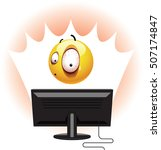 smiley being shocked while... | Shutterstock .eps vector #507174847