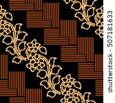 seamless abstract batik pattern.... | Shutterstock . vector #507181633